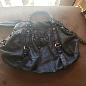 Gray marc by marc Jacobs purse with shoulder strap